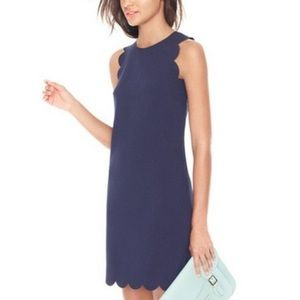 J. CREW Navy Blue Scalloped Hem Mini Dress (2)